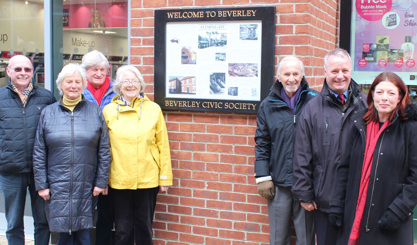 Beverley Civic Society Latest Historic Information Board Installed