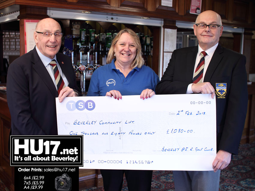 Outgoing Captain Hands Over Thousands To Local Good Causes