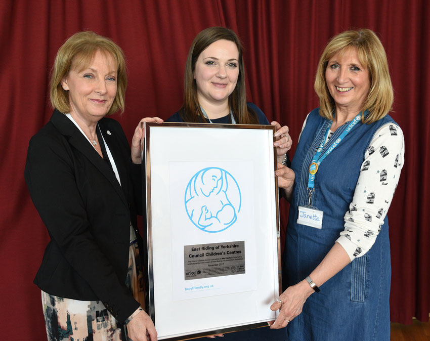 East Riding Children's Centres Celebrate Baby Friendly Accreditation