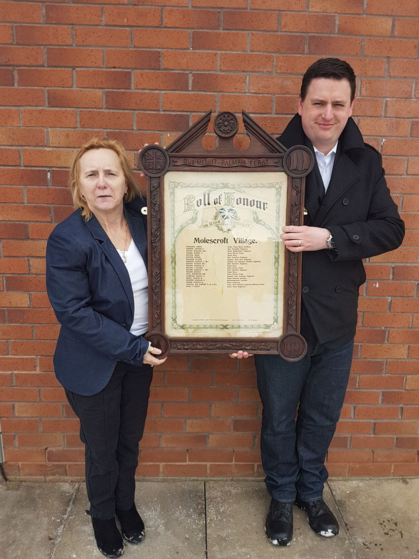 Molescroft Parish Council Restored Village's Roll of Honour