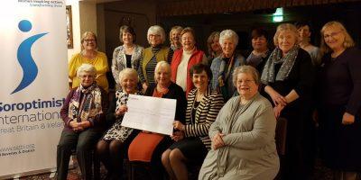 Soroptimist International Present Macmillan Nurses With Funds Raised