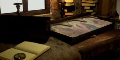 Recreation Of 14th Century Artist's Studio Adds To Visitor Experience