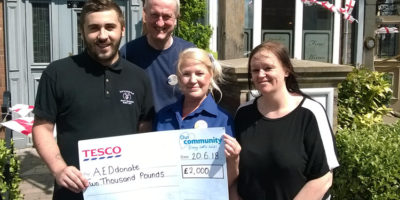Defibrillators for Beverley Project Award £2000 By Tesco
