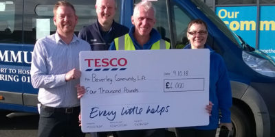 Beverley Community Lift Award £4,000 By Tesco Bags of Help Scheme