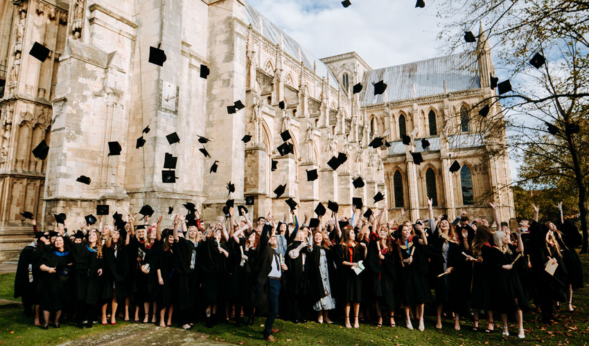 Graduation Held At Minster Is Biggest Ever For Local College