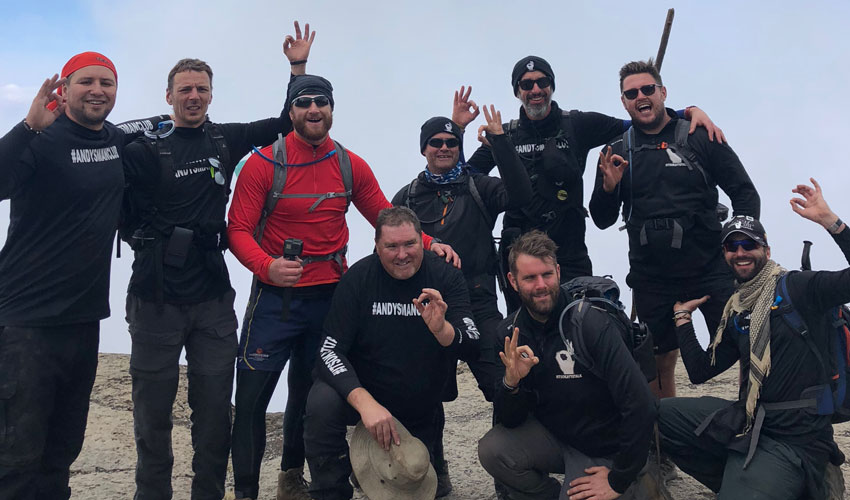 Andy's Man Club Are High On Life After Tackling Mount Kilimanjaro