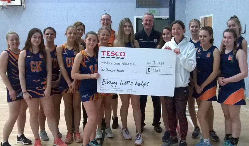 White Cross Netball Club Awarded £1000 By Tesco Beverley