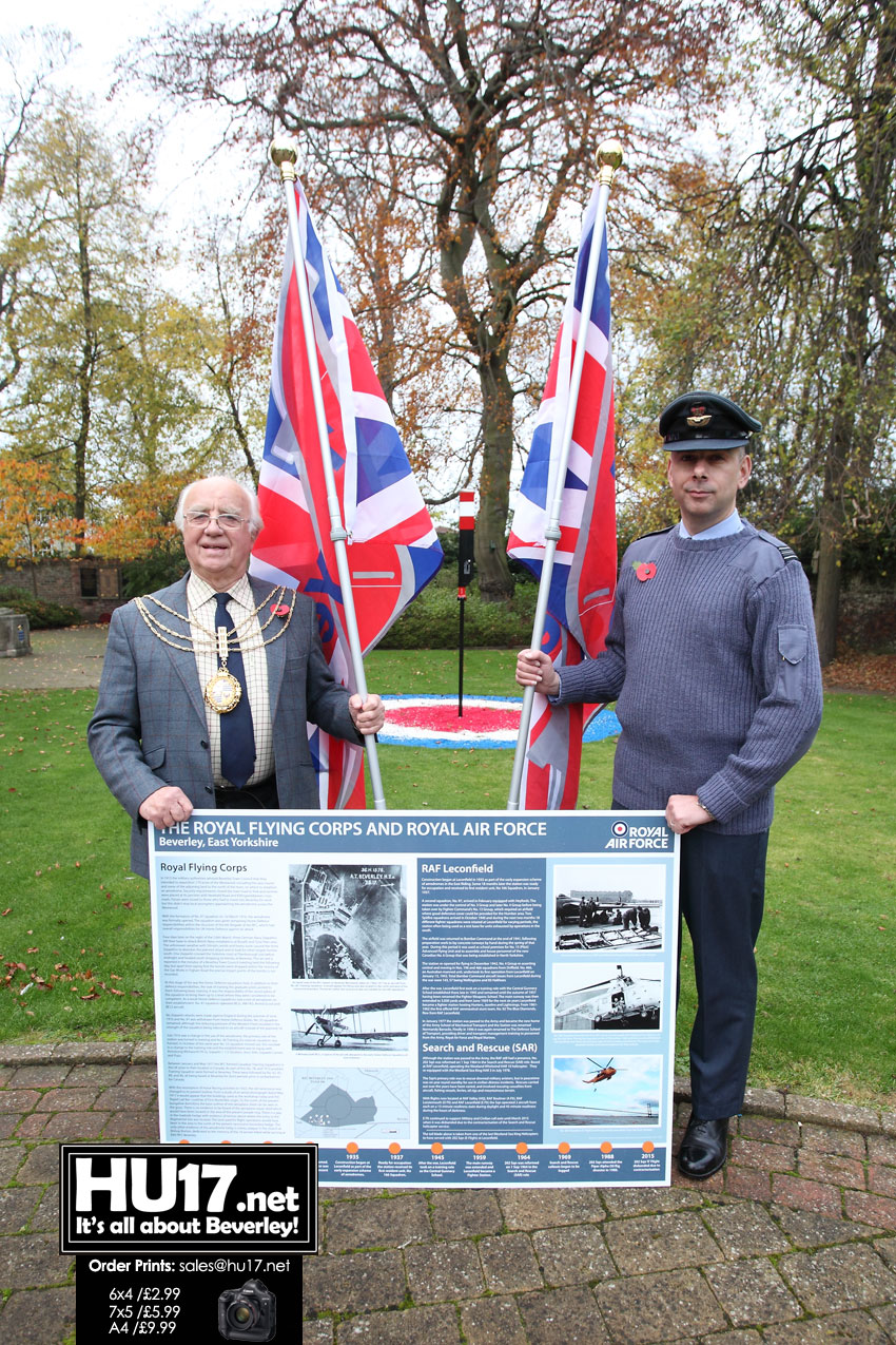 RAF Links To Beverley Told On Board Unveiled In Hengate Gardens