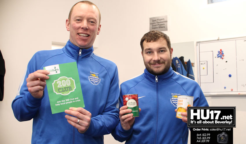 Football Players From Beverley Get Behind Local Foodbank Appeal