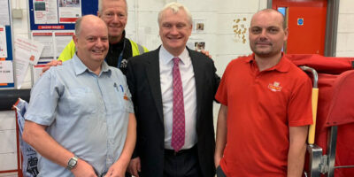 Postal Workers Welcome MP At Beverley Sorting Office