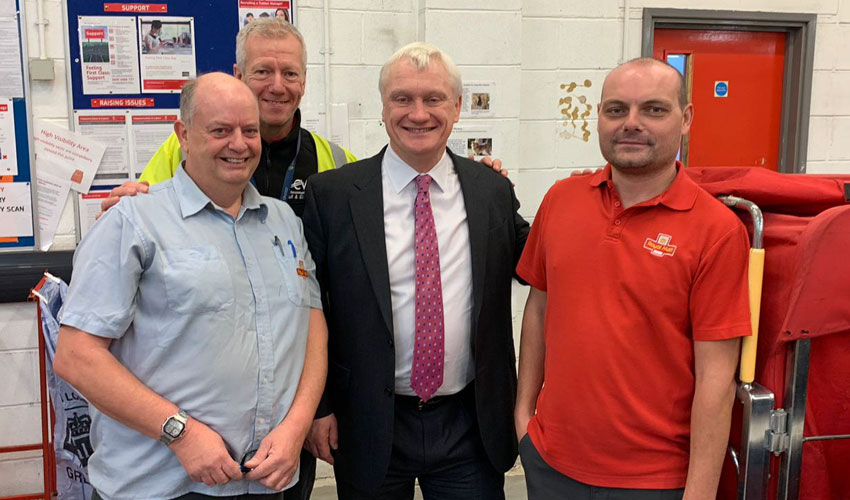 Postal Workers Welcome Visit By MP To Beverley Sorting Office