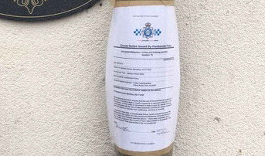 Beverley Man Served With Closure Notice