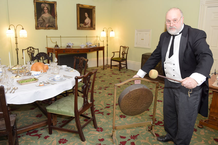 Banging The Gong At Sewerby Hall And Gardens