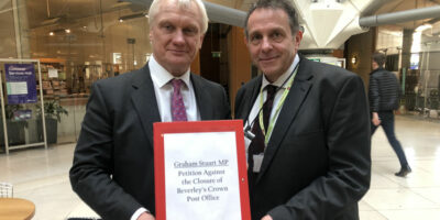 Post Office Director Handed Petition By MP Graham Stuart