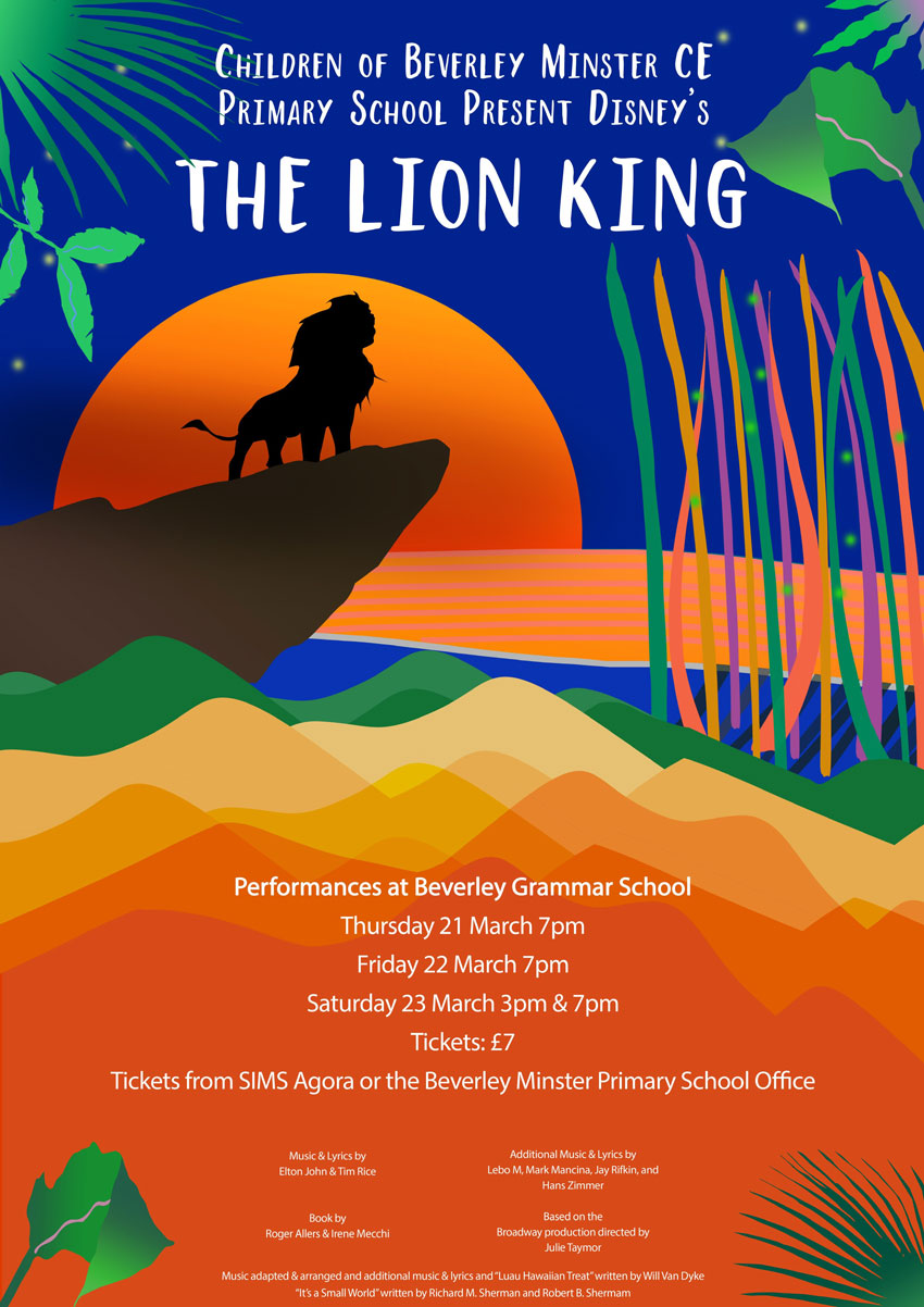 Beverley Minster Primary School To Perform The Lion King
