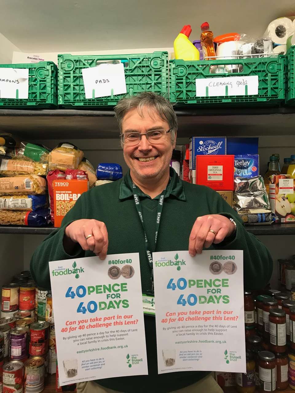 East Yorkshire Foodbank Want People To Support #40for40 This Lent