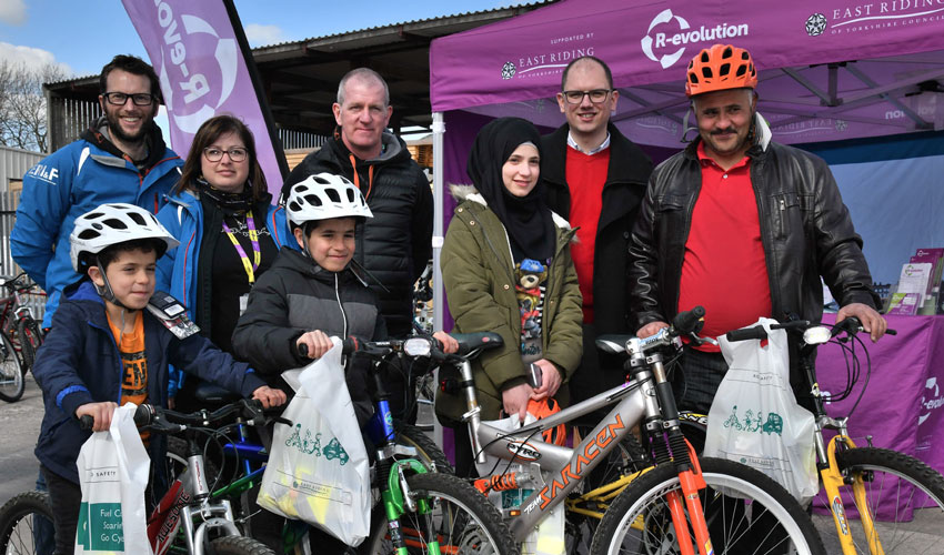 Road Safety Cycle Scheme For Syrian Refugees In The East Riding Launches For 2019