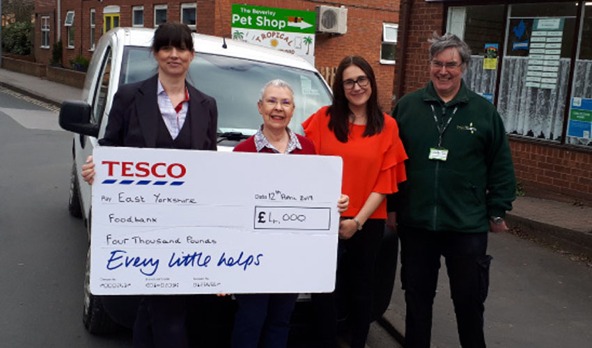 East Yorkshire Foodbank Award Thousands Of Pounds By Tesco