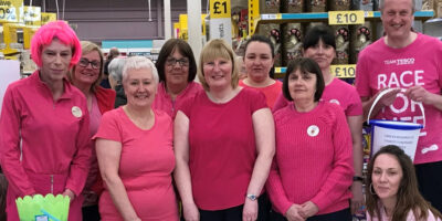 Tesco Turns Pink Raises Over £200 For Cancer Research UK