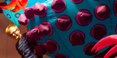 Exhibition Of Giant Inflatable Microbes Opens At Ferens Art Gallery