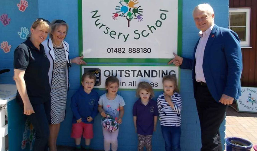 Fir Tree Nursery School Praised By MP After Outstanding Ofsted Result