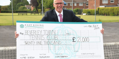 Beverley Town Tennis Club Celebrate Commuted Sums Grant