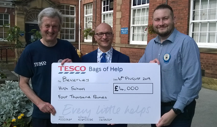 Tesco Hand Out Cash To Beverley High School And Local Festival