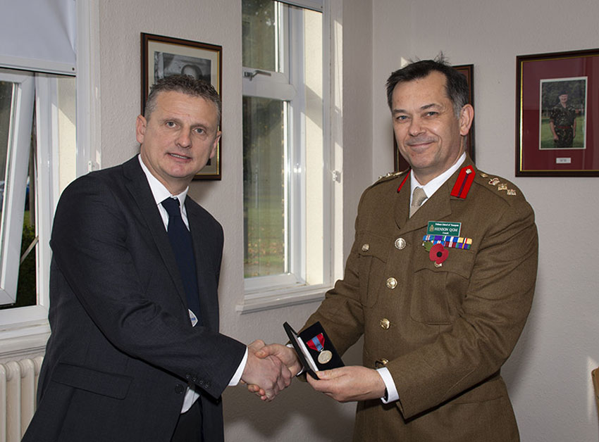 Imperial Service Medals Presented Former DST Staff