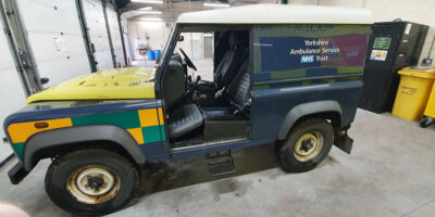 Thieves Pinch Doors From Ambulance Service Off-Road Vehicle
