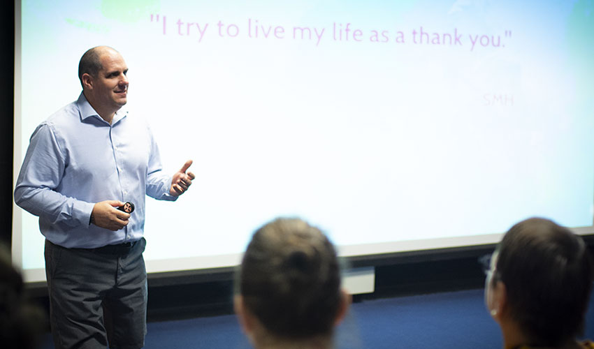 Former Combat Medic Drives Inspiration At The DST
