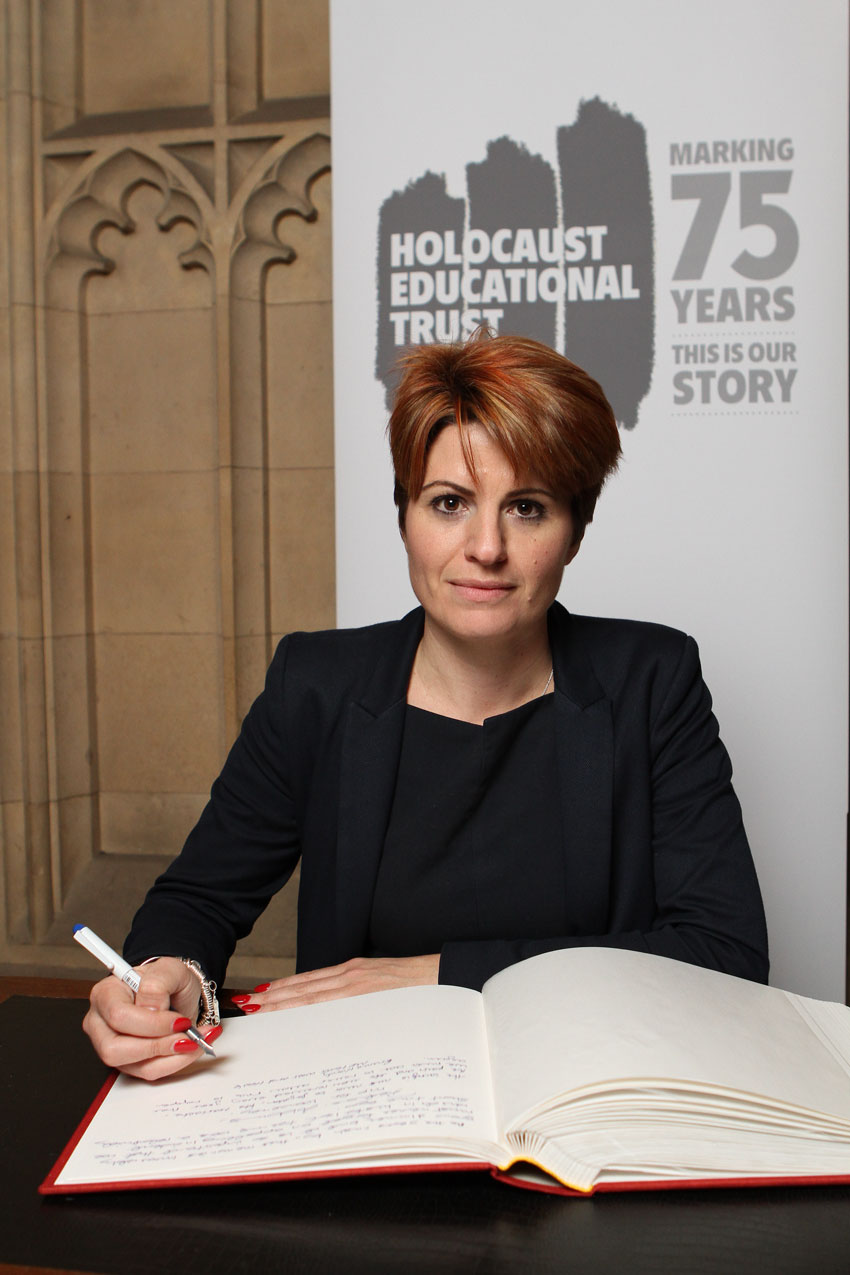 Emma Hardy MP Signs Holocaust Educational Trust Book Of Commitment
