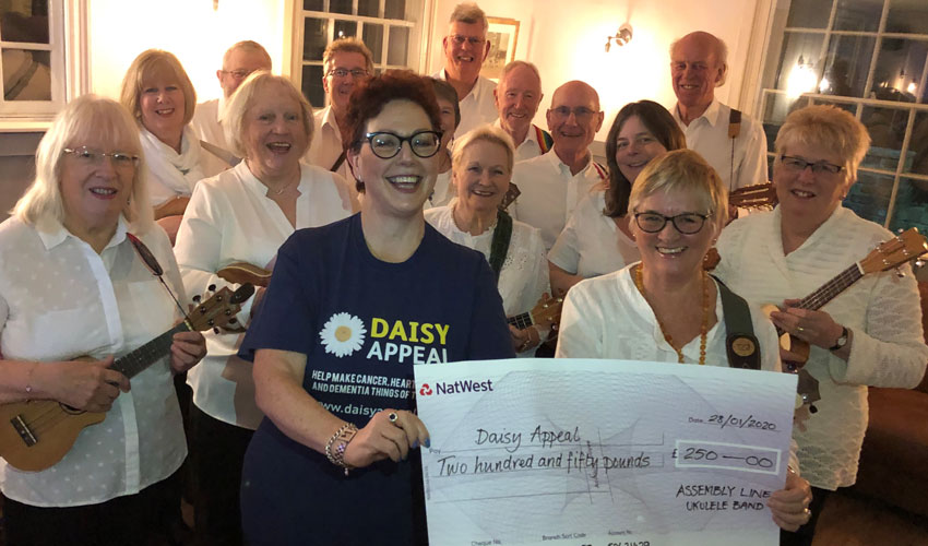 Ukulele Band Making Music To Support The Daisy Appeal
