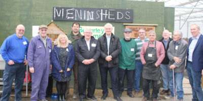 Graham Stuart MP Rolls Up His Sleeves At Beverley Men In Sheds Project