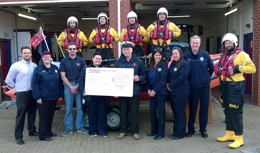 The Royal National Lifeboat Institution Benefit From Tesco Grant