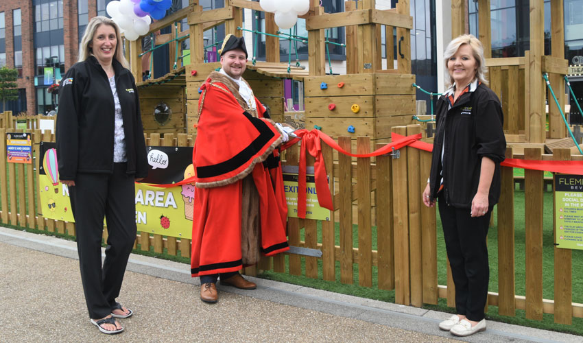 Mayor Opens Play Area At Retail Park Which Has Been Doubled In Size