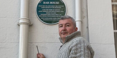 Stepping from the Shadows - Bar House Plaque Replaced