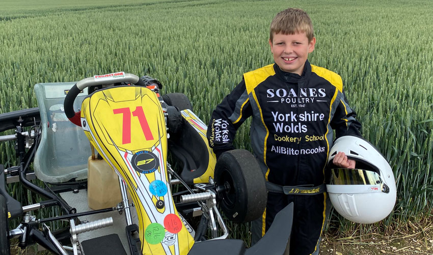 East Yorkshire Poultry Business Sponsors Promising Junior Kart Racer