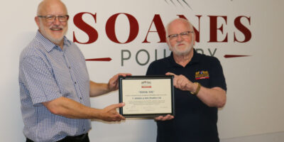 Armed Forces And Veterans Breakfast Clubs Present Soanes Poultry With Certificate Of Thanks