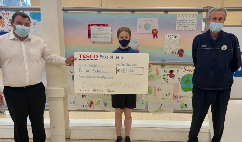 Tesco Beverley Awards School £250 For Raising Litter Awareness