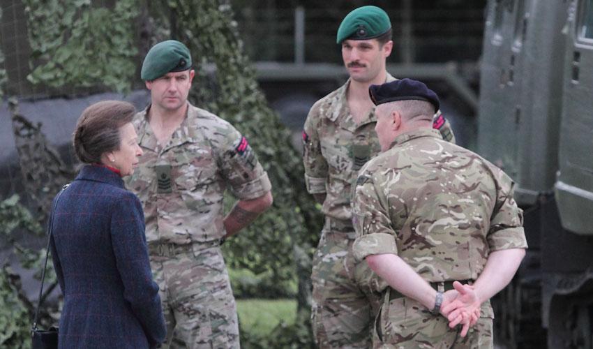 The Princess Royal Visits Defence School of Transport